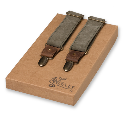 Wiseguy Suspenders - Mad Dog Salvaged - Armégrön (1)