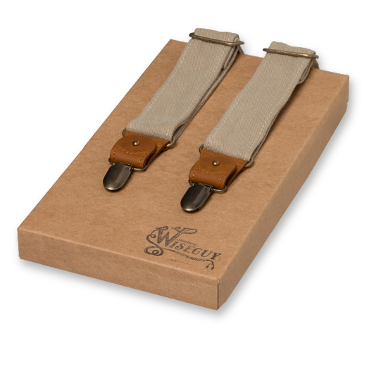 Wiseguy Suspenders - The Duck Canvas - Beige (1)