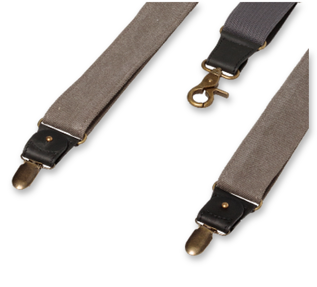 Wiseguy Suspenders - The Duck Canvas - Grå (3)
